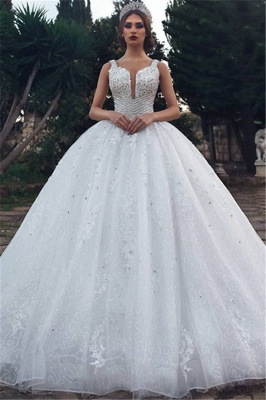 Modern wedding dress A line | White Wedding Dress Cheap Online_1