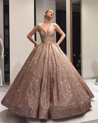 Long evening dresses with glitter | Prom dresses cheap_3
