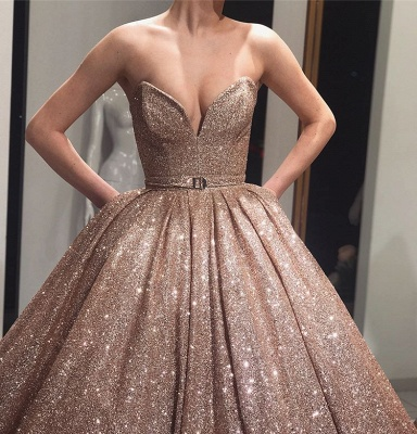 Long evening dresses with glitter | Prom dresses cheap_2