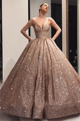 Long evening dresses with glitter | Prom dresses cheap_1