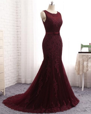 Buy Nice Long Dresses | Evening dresses long red lace_2