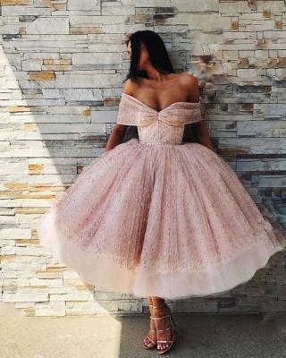 Elegante Cocktailkleider Rosa | Kurze Abendkleider mit Glitzer_3