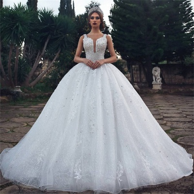 Modern wedding dress A line | White Wedding Dress Cheap Online_2