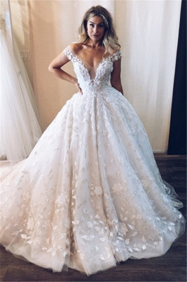 Elegant wedding dresses white lace | Wedding dress princess cheap_1