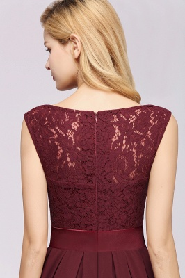 Burgundy Bridesmaid Dresses Long Cheap | Dresses for wedding guests_8