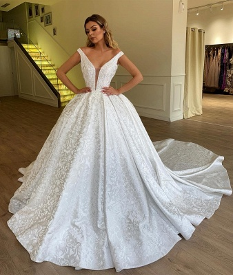 Sexy Brautkleider A Linie | Hochzeitskleid Aus Spitze_2