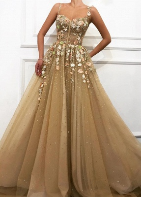 Fashion evening dress gold | Elegant long evening dresses cheap online_1