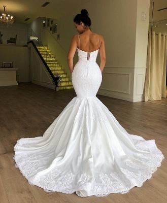 Simple wedding dresses lace | Buy mermaid wedding dress online_2