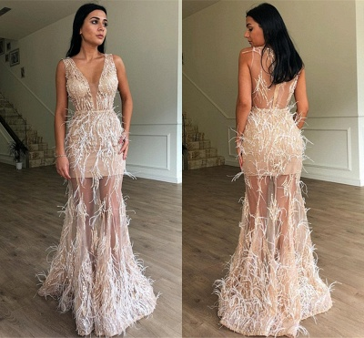 Luxury Long Prom Dresses Cheap | Ball gowns with feathers online_3