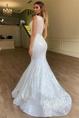 Modern Weiße Brautkleider Spitze | Hochzeitskleid Meerjungfrau_2