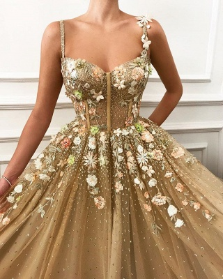 Fashion evening dress gold | Elegant long evening dresses cheap online_2