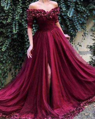 Elegante Abiballkleider Lang Günstig | Rote Abendkleider Online_2