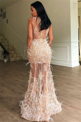 Luxury Long Prom Dresses Cheap | Ball gowns with feathers online_2