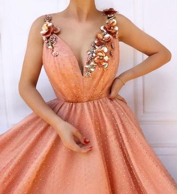 Designer Abendkleider lang V Ausschnitt | Abiballkleider Online_2