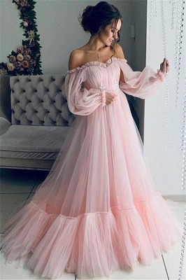 Fashion evening dresses long pink | Blue evening dress online_2