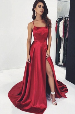 Simple evening dress long red | Evening dresses cheap_1