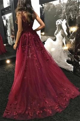 Chic evening dresses long v neckline | Elegant evening wear lace_3
