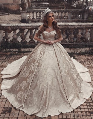 Luxury wedding dresses A line | Princess wedding dress online_2