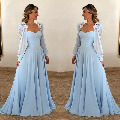 Elegant Long Evening Dresses Cheap | Blue prom dresses online_2