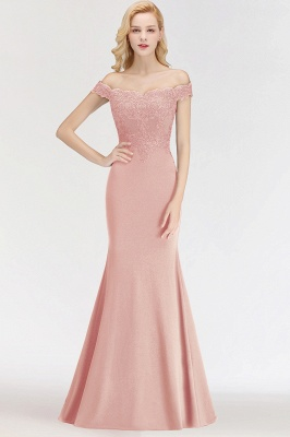 Wine red simple evening dresses long cheap with lace prom dresses online_1