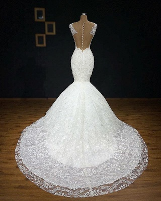 Exclusive wedding dresses with lace | Mermaid wedding dress online_3