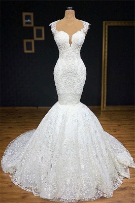 Exclusive wedding dresses with lace | Mermaid wedding dress online_1
