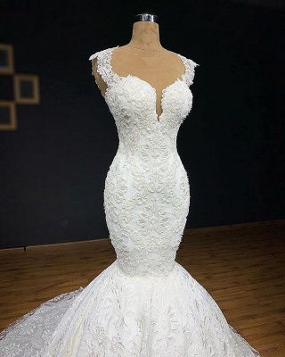 Exclusive wedding dresses with lace | Mermaid wedding dress online_2