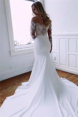 Designer Wedding Dresses With Sleeves | Wedding dress mermaid with lace_2