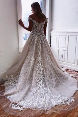 Elegant wedding dresses with lace | Wedding dress A line_2