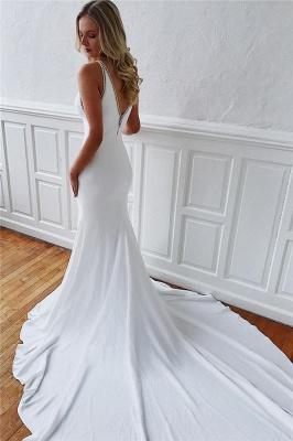 Modern wedding dress white mermaid | Wedding dresses with train_2
