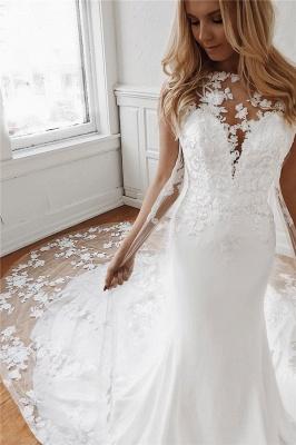 Elegante Brautkleider Mit Spitze | Hochzeitskleid Meerjungfrau Günstig Online_1