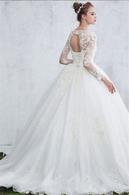 White wedding dresses with sleeves order lace wedding dresses online_2