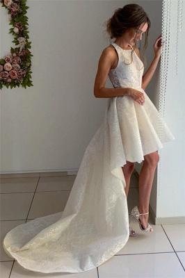 Fashion Brautkleider Kurz Vorne Lang Hinter | Hochzeitskleid mit Spitze_4