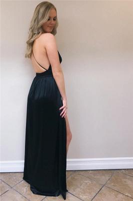 Elegant Backless Red Prom Dresses   Evening dresses long v neckline_4