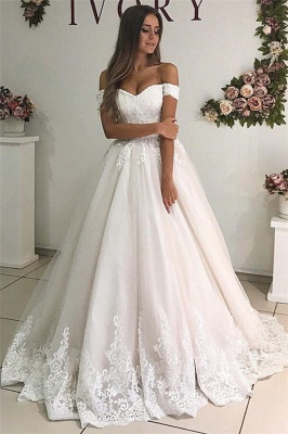 Elegant wedding dresses A line | Wedding dresses with lace online_1