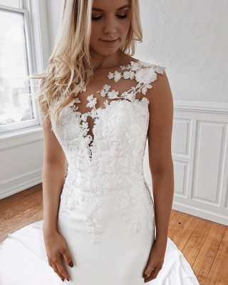 Elegant wedding dresses with lace | Mermaid wedding dress cheap online_4