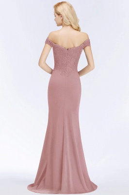 Wine red simple evening dresses long cheap with lace prom dresses online_2