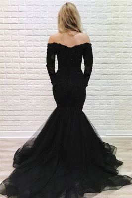 Elegant Evening Dresses Long Black Lace | Prom dresses with sleeves_2