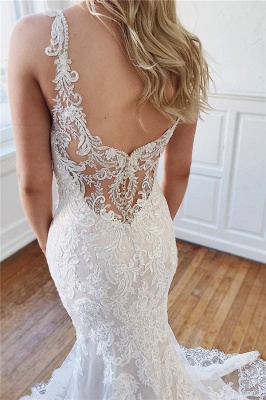 Designer wedding dress mermaid | Backless wedding dresses with lace_2