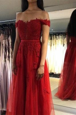 Fashion Abendkleider Lang Rot Spitze | Abendmoden Online Kaufen_2