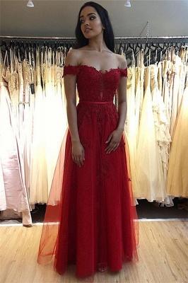 Fashion Abendkleider Lang Rot Spitze | Abendmoden Online Kaufen_1