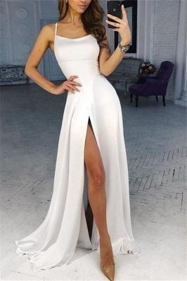 Simple evening dresses long white | Buy evening wear online_1
