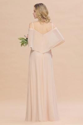 Champagne Brautjungfernkleider Lang Günstig | Kleider Für Brautjungfern_3