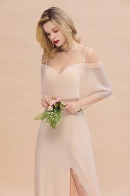 Champagne Brautjungfernkleider Lang Günstig | Kleider Für Brautjungfern_8