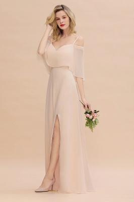 Champagne Brautjungfernkleider Lang Günstig | Kleider Für Brautjungfern_7