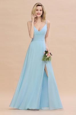 Blaue Brautjungfernkleider Lang Günstig | Kleider für Brautjungfern_5