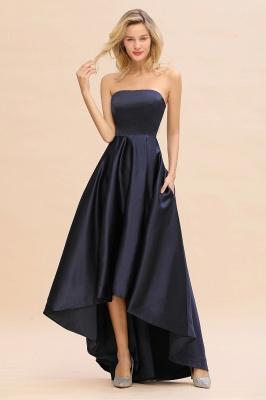 Schwarze Abendkleider Hi-lo | Schlichtes Abiballkleid Günstig_4