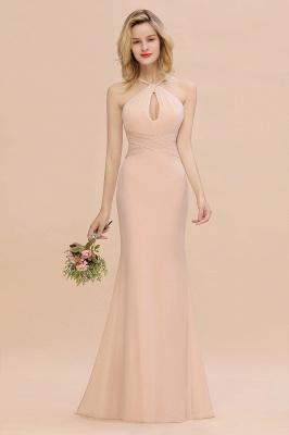 Peach Brautjungfernkleider Lang Chiffon | Kleider Für Brautjungfern_4