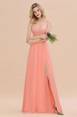 Coral Brautjungfernkleider Lang Günstig   Hochzeitsgäste Kleider_54