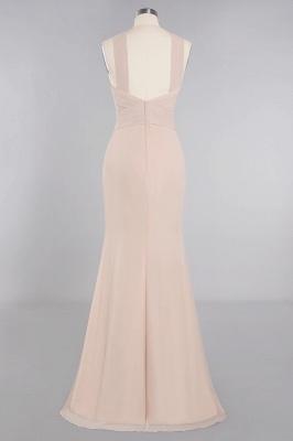 Peach Brautjungfernkleider Lang Chiffon | Kleider Für Brautjungfern_11